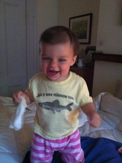 "Toddler Tee ""Just A Wee Minnow Now"""